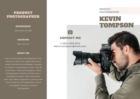 Professional Photographer services Brochure Modelo de Design