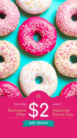 Delicious glazed Donuts Instagram Story Design Template