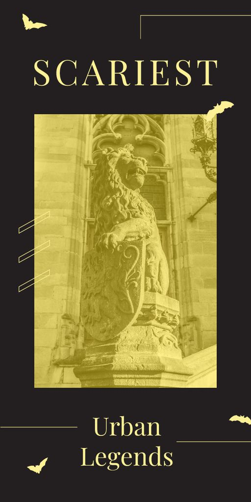 Lion sculpture on building facade — ein Design erstellen