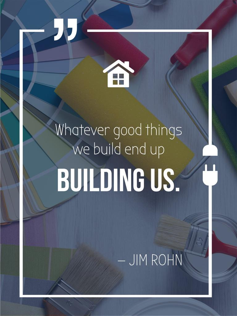 Building inspirational quote poster — Create a Design