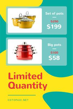 Kitchen Utensils Offer Cooking Pots | Tumblr Graphics Template