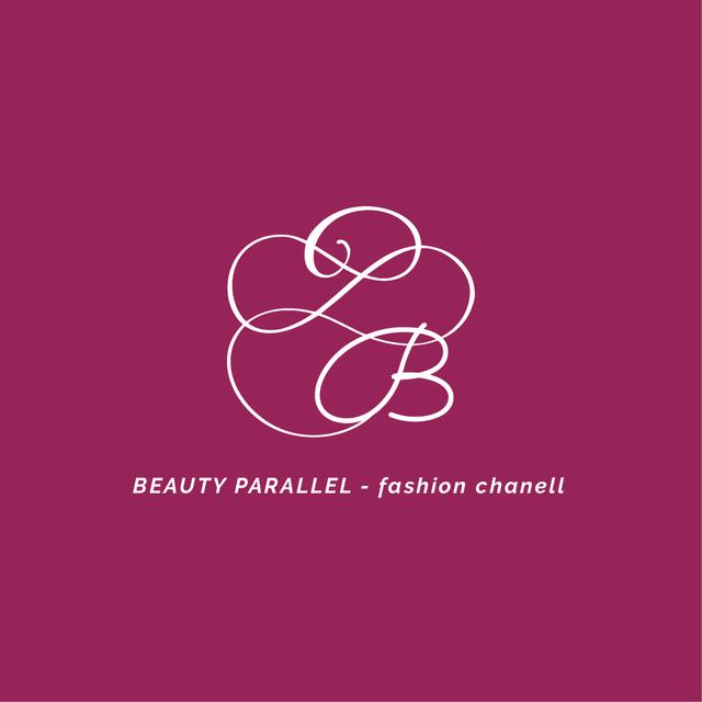 Vintage Decorative Logo in Pink Logo – шаблон для дизайна