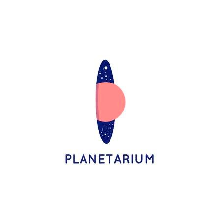 Modèle de visuel Planetarium Promotion with Planet and Stars in Space - Logo