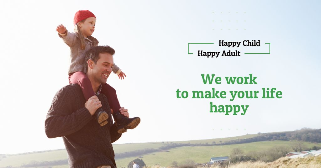 Father with his daughter Facebook AD Modelo de Design