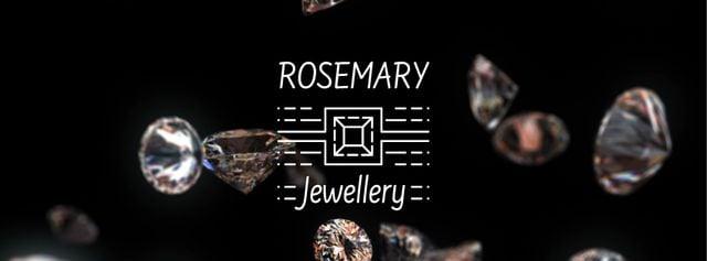 Shiny diamonds falling down Facebook Video cover – шаблон для дизайна