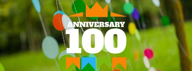 Template di design Anniversary celebration template Facebook Video cover