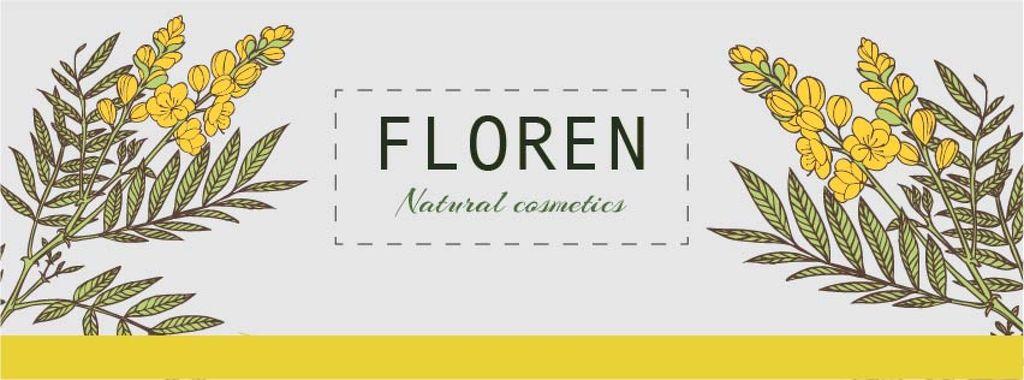 Natural cosmetics banner — Modelo de projeto