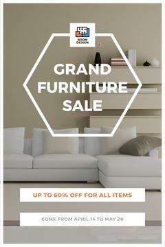 Furniture Sale Modern Interior in Light Colors
