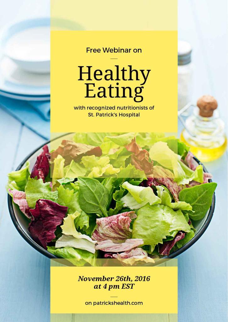 Free webinar on healthy eating poster — ein Design erstellen