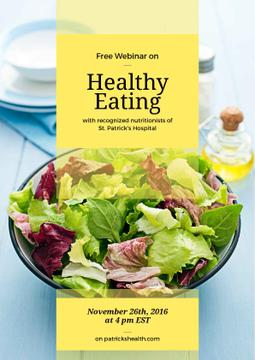 Free webinar on healthy eating poster