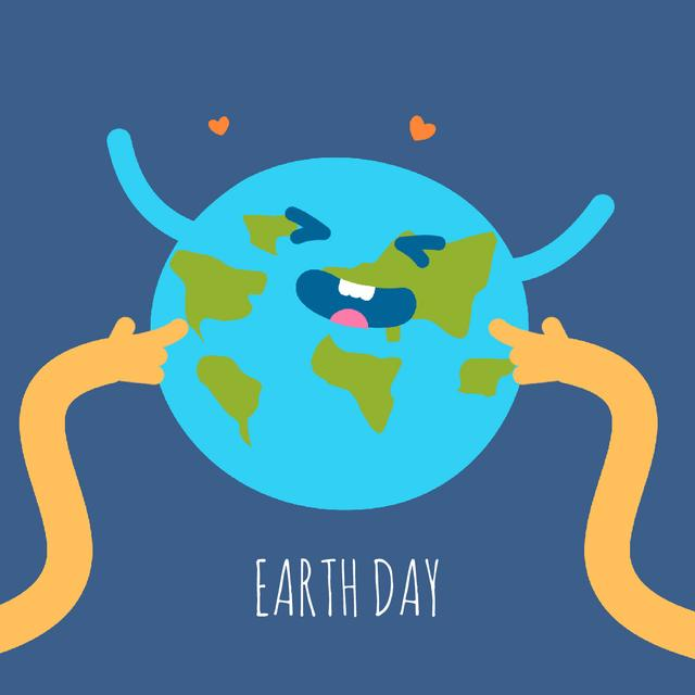 Plantilla de diseño de Hands Tickling Planet Earth Animated Post