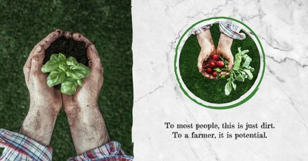 Ontwerpsjabloon van Facebook AD van Farmer harvesting vegetables