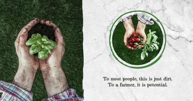 Farmer harvesting vegetables Facebook AD Modelo de Design