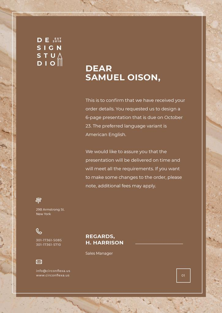 Design Agency official request — Crea un design