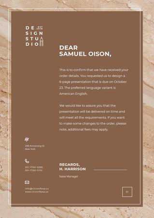 Design Agency official request Letterhead Modelo de Design