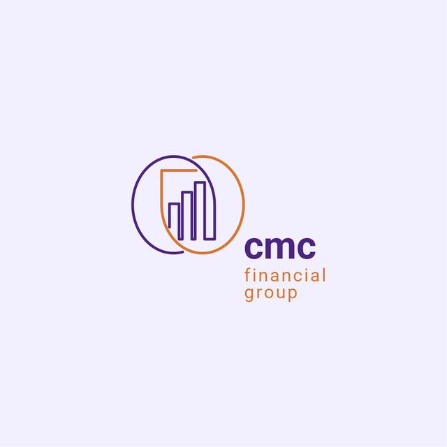 Financial Group Ad with Diagram Icon Logo – шаблон для дизайну