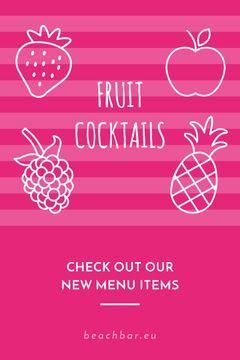 Fruit Cocktails Offer in Pink
