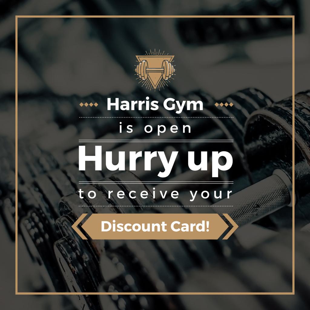 Gym Membership Offer with Dumbbells — Crear un diseño