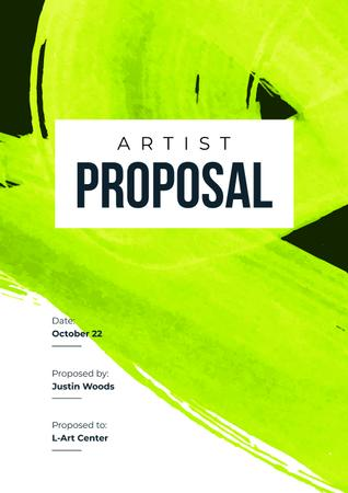 Artist Services offer on abstract Painting Proposal Modelo de Design