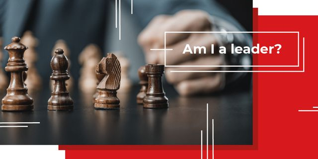 Am I leader? question Image Design Template