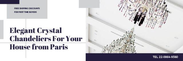 Plantilla de diseño de Elegant crystal chandeliers from Paris Email header