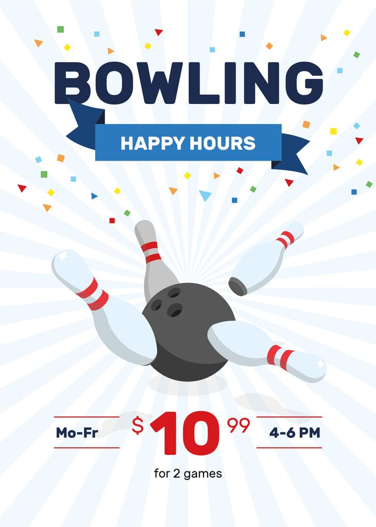 Bowling Club Happy Hours | Flyer Template — Créer un visuel
