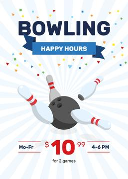 Bowling Club Happy Hours | Flyer Template