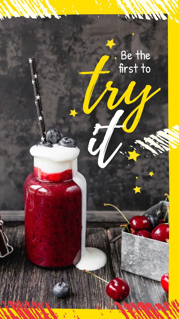 Fresh smoothie with berries — Створити дизайн