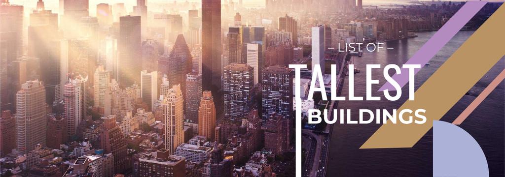 Modern City Tallest Buildings View Tumblrデザインテンプレート
