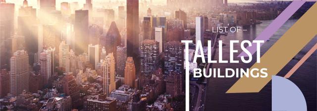 Modern City Tallest Buildings View Tumblr – шаблон для дизайна