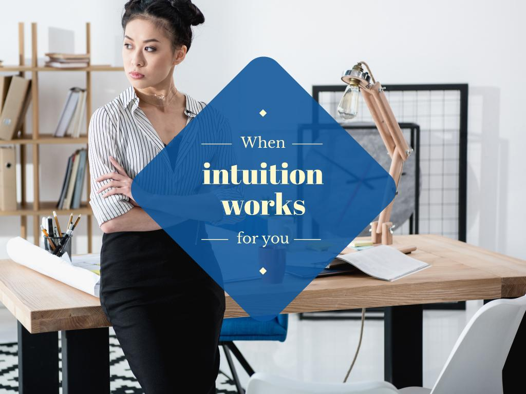 When intuition works for you — Create a Design