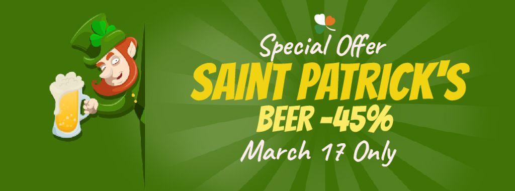 Saint Patrick's leprechaun with beer — Create a Design