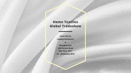 Template di design Home Textiles event announcement White Silk Title