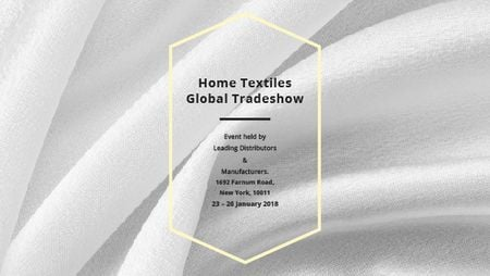 Ontwerpsjabloon van Title van Home Textiles event announcement White Silk