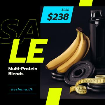 Sports Nutrition Offer Bananas and Weights