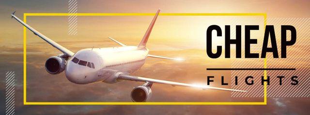 Cheap flights advertisement Facebook cover – шаблон для дизайну