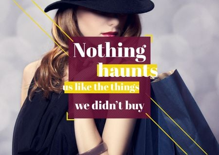 Plantilla de diseño de Quotation about shopping haunts Card