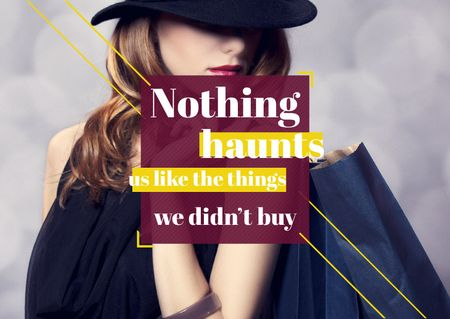 Quotation about shopping haunts Card Modelo de Design