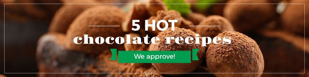 Hot chocolate recipes banner — Maak een ontwerp