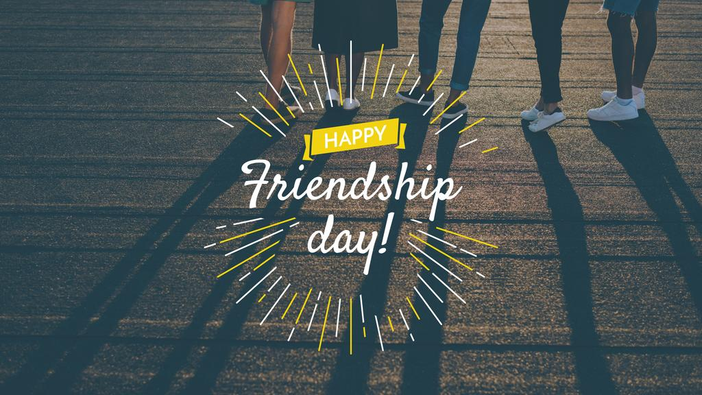 Friendship Day Greeting with Young People Together — Modelo de projeto