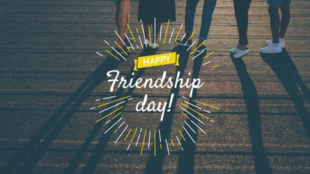 Friendship Day Greeting with Young People Together Youtube Design Template