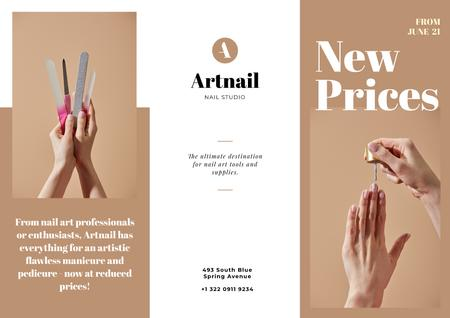 Nail Studio services offer Brochure Modelo de Design