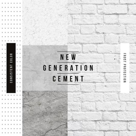 Grey concrete wall Instagram Design Template