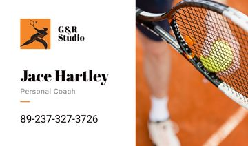 personal tennis trainer card