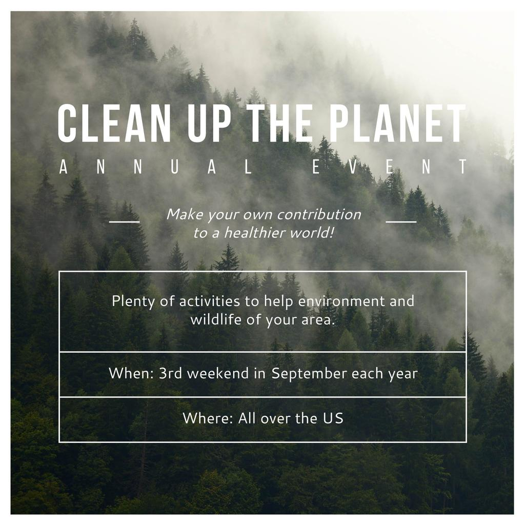 Clean up the Planet Annual event — Maak een ontwerp