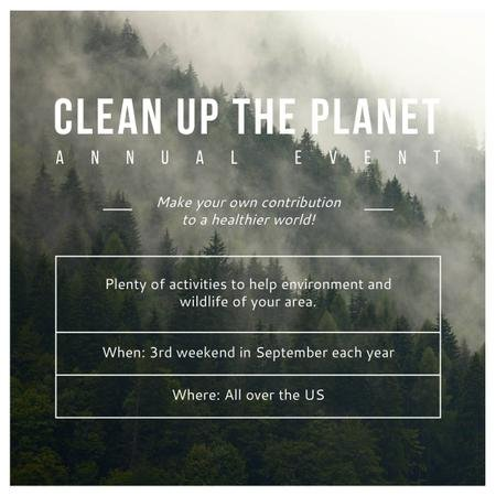 Ontwerpsjabloon van Instagram van Clean up the Planet Annual event