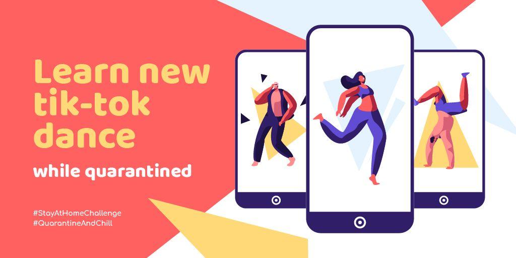 #StayAtHomeChallange People dancing on phone screens — ein Design erstellen