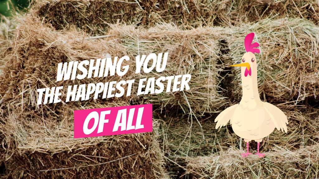 Chicken laying Easter egg — Créer un visuel