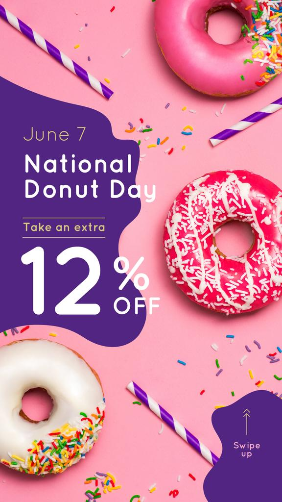 Donut Day Offer with Delicious glazed donuts — Create a Design