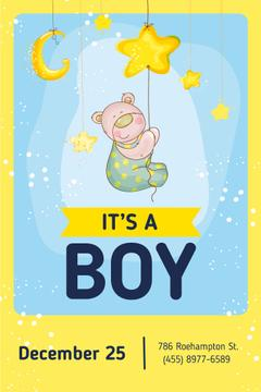 Baby Shower Invitation Cute Teddy Bear